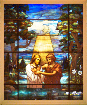 The Baptism of Jesus window