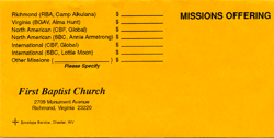 special missions offering envelope