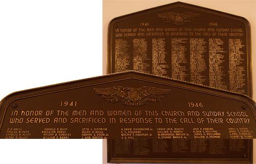 WWII memorial plaque