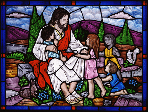 """Jesus and the Children"" window"