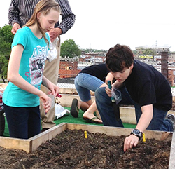 Youth 1 gardening