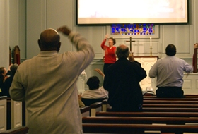 Deaf congregation worship