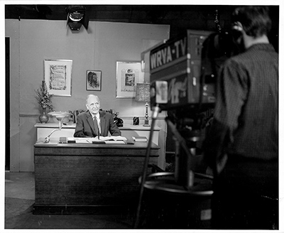 TV set of Dr. Adams' study