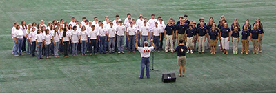 Youth choir at Toronto stadium